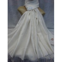 36 Bulk Winter Fashion Pashminas Multi Colored Swirls In White