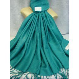 36 Bulk Winter Fashion Pashminas Multi Colored Swirls In Torquoise