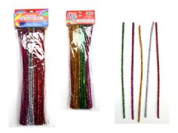 96 Bulk 50 Piece Craft Glitter Stems