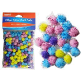 144 Bulk 200 Piece Craft Balls With Glitter
