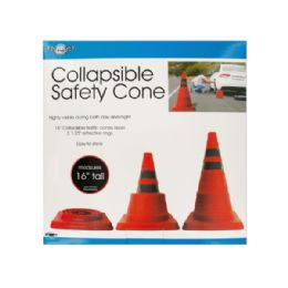 6 Bulk Collapsible Traffic Safety Cone With Reflective Rings