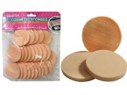 96 Bulk 25 Piece Cosmetic Round Sponge
