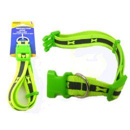 144 Bulk Green Reflective Dog Collar