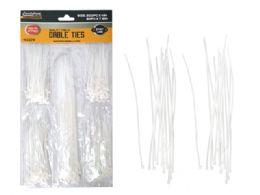 144 Bulk 250pc White Cable Ties
