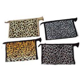 96 Bulk Assorted Color Animal Print Cosmetic Bag