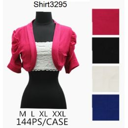 144 Bulk Solid Color Short Sleeve Shawl Covers