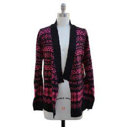12 Bulk Shawl Cardigan Hot Pink