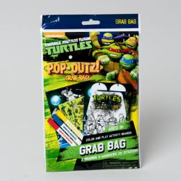 96 Bulk Art Boards Teenage Ninja Turtles Pop Outz! Markers, Stickers And Pop Out Characters