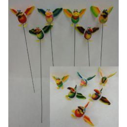 48 Bulk Yard Stake [jumbo Tropical Birds With Springing Wings]