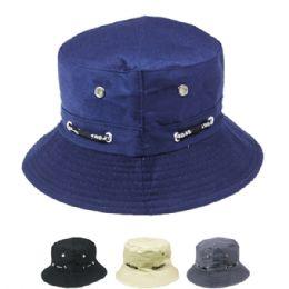 24 Bulk Unisex Bucket Hat Assorted Colors