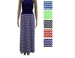 48 Bulk Womans Long Striped Fashion Summer Dress