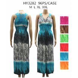 48 Bulk Womans Long Fashion Summer Dress