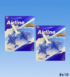 72 Bulk 3pcs Airplanes In Blister Card