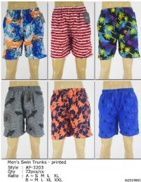 72 Bulk Men's Assorted Printed Bathing Suit