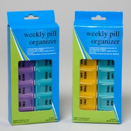 48 Bulk Pill Organizer Weekly Am/pm Hba Window Box