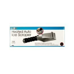 12 Bulk Heated Auto Ice Scraper With Flashlight