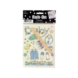 144 Bulk Baby Boy RuB-On Transfers