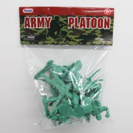"""96 Bulk 12pc 3"""" Army Action Figs."""