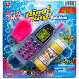"48 Bulk 2pc 5.5""bubble Cellphones & Accss In Blistered Card Asst."