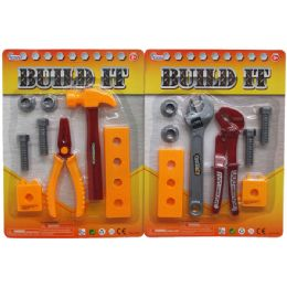 72 Bulk 8pc Build It Tool Play Set In Blister Card