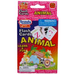 72 Bulk 27 Learning Flash Cards(animals) 2asst In Peg Able Color Box