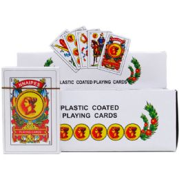144 Bulk Spanish Playing Cards In Color Card Board Display