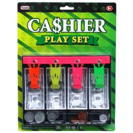 48 Bulk Playing Money Cash Drawer W/coins In Blistered Card