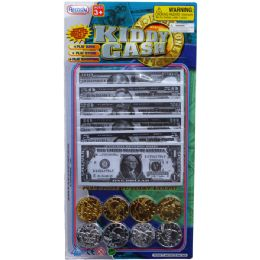 72 Bulk 60pc Kiddy CasH-Playing Money In Blister Card
