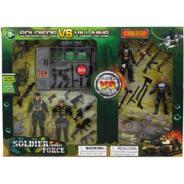24 Bulk Soldier Vs Villains Play Set In Window Box