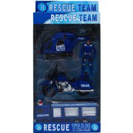 18 Bulk 4pc Police Rescue Team In Pegable Window Box