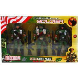 24 Bulk 3pc Soldier Force Action Figures