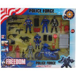 18 Bulk Police Force Play Set In Window Box