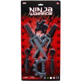 36 Bulk 6pc Ninja Warrior Play Set In Blister Card