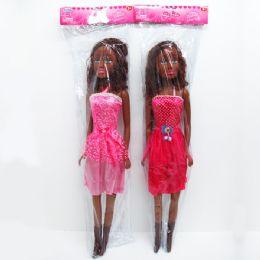 """8 Bulk 30"""" Sofia Black Doll, In Poly Bag W/header"""