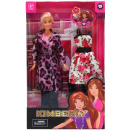 24 Bulk Fashion Doll With Extra Outfit In Window Box