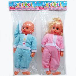 "24 Bulk 18"" Baby Doll W/ic Sound In Poly Bag W/header, Assorted"