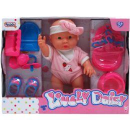 "18 Bulk 9"" Baby Daisy & Care Play Set In Window Box"