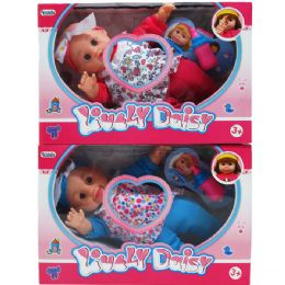 "18 Bulk 12"" B/o Lovely Daisy Doll W/accss & 4 Sounds In Window Box"
