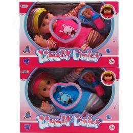 "18 Bulk 12"" B/o Lovely Daisy Doll W/accss & 4 Sounds In Window Box"