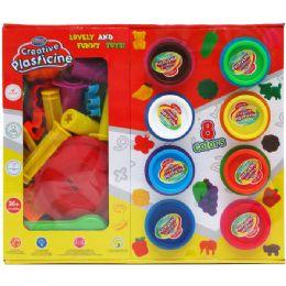 18 Bulk Creative Plasticine Play Set In Color Window Box
