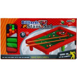 """24 Bulk 10.5""""x7"""" Pool Table Play Set In Color Box"""