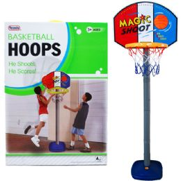 "6 Bulk 60""h Plastic Basketball Play Set W/21"" Backboard In Color Box"