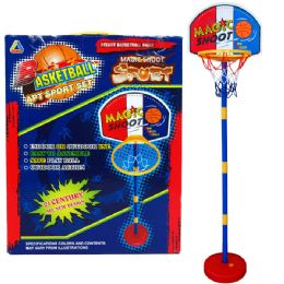 "12 Bulk 60""h Plastic Basketball Play Set W/15"" Backboard In Color Box"