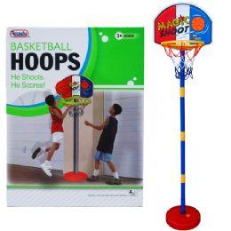 "8 Bulk 60""h Plastic Basketball Play Set W/15"" Backboard In Color Box"