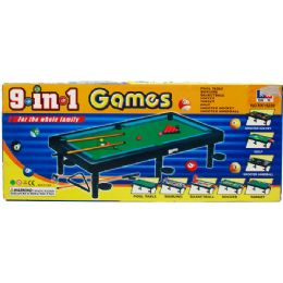 24 Bulk 9 In 1 Table Games In Color Box