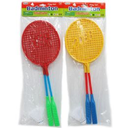 96 Bulk Badminton Play Set With Birdie In Poly Bag W/header