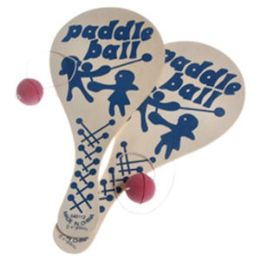144 Bulk Wooden Paddle Ball Games.