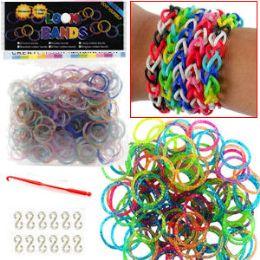 192 Bulk Glitter D.i.y .loom Bands