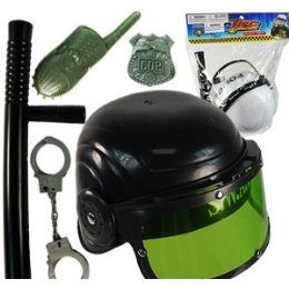 24 Bulk Police Playsets W/helmet.