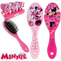 48 Bulk Disney's Minnie's BoW-Tique Hair Brushes.